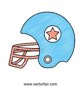 football helment to uniform to play sport