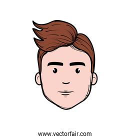nice fece man with hairstyle