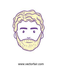 nice face man with beard and hairstyle