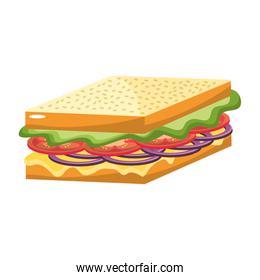 delicious sandwich fast food meal
