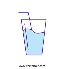water glass to freshness and healthylife