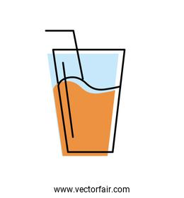 refreshment glass to freshness and healthylife
