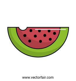 delicious and healthy watermelon slice fruit