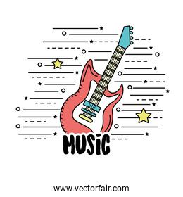 electric guitar musical instrument to play music