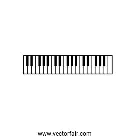 piano keys musical instrument to play music