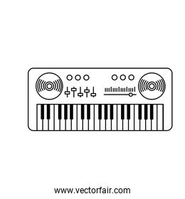 line piano musical instrument to play music