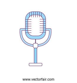 microphone to sing music in the performance