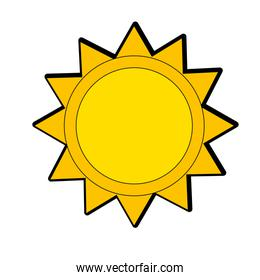 isolated shine sun to spring to natural weather