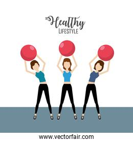 woman healthy lifestyle to do exercise