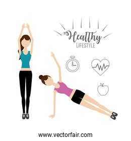 women healthy lifestyle to do exercise