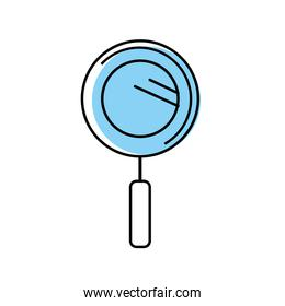 magnifying glass instrument to analyzing