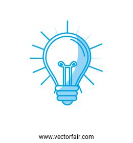 silhouette light bulb idea to creative invention