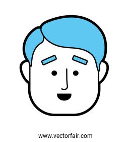 man face with hairstyle design