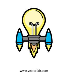 bulb with thrusters to creative idea