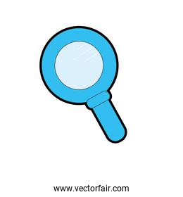 magnifying glass tool to explore