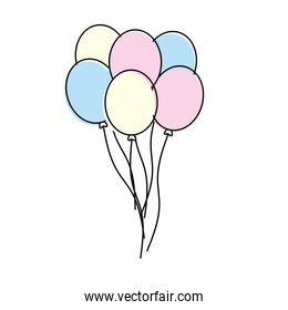 funny balloons decoration design flying