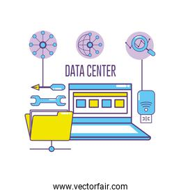 laptop technology with data center system