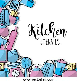 kitchen utensils elements culinary collection