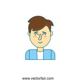 cute man with hairstyle design and shirt