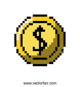 coin digital money to video game console