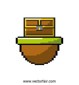 video game treasure chest in the digital platform