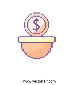 coin digital money in the platform game console