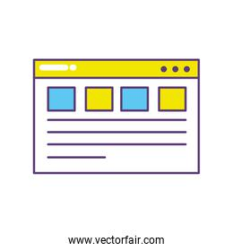 webside page and global technology element