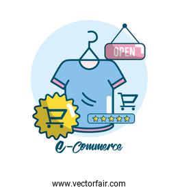 marketing plan strategy with shopping online