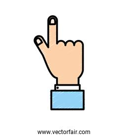businessman hand with finger and nails