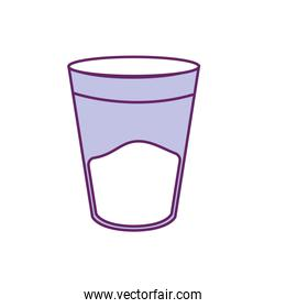 water glass to drink and fresh beverage