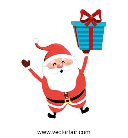 santa claus with suit christmas and present gift