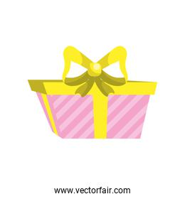 present gift with ribbon bow decoration design