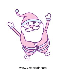 santa claus with christmas suit and beard