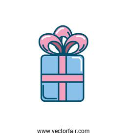 present gift with ribbon bow design