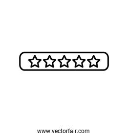 line rating stars bar to choose the favorite