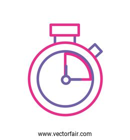 silhouette clock alarm to know the hour time