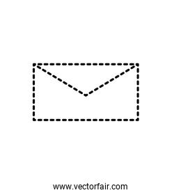 dotted shape card letter close with message information