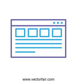 silhouette webside page and global technology element