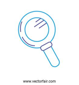 line magnifying glass tool to explore