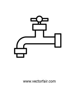line ecologycal faucet to save water and environment care
