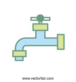 ecologycal faucet to save water and environment care
