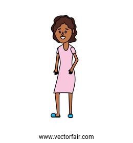 woman with hairstyle and dress design