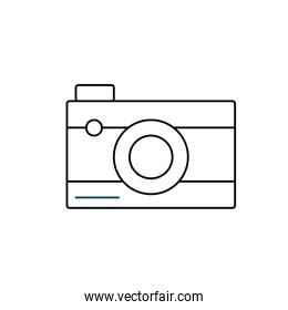 line digital camera technology to photography icon