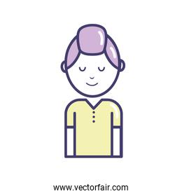 avatar man with hairstyle design and t-shirt
