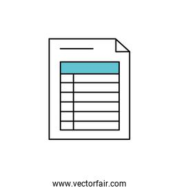 business information document paper data