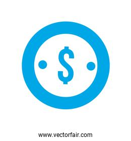 silhouette finance coin currency cash money