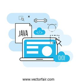 website process information to programming technology