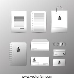 set company stationary template with business documents