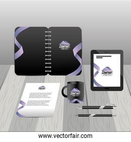 company stationary template with business papers