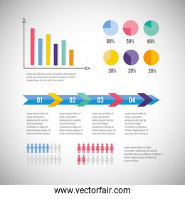 business diagram with infographic information report